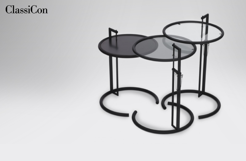 CLASSICON – ADJUSTABLE TABLE E 1027 IN SCHWARZ.