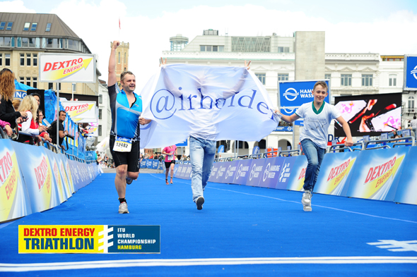 Chairholder beim Dextro Energy Triathlon 2012 in Hamburg