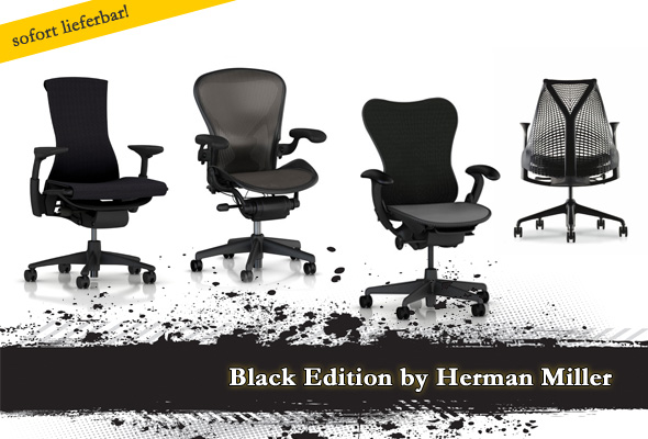 Black Edition by Herman Miller: Embody, Aeron, Mirra, Sayl
