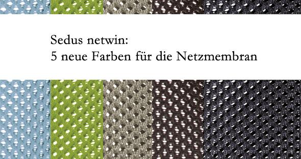 die 5 neuen Farben für die Netzmembran des Sedus netwin