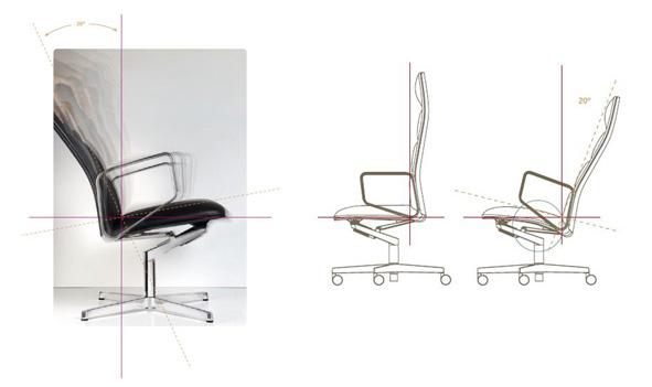 Leadchair von Walter Knoll. Design: EOOS.