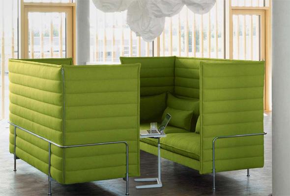 Alcove Highback Three-Seater. Developed by Vitra in Switzerland. Design: Ronan & Erwan Bouroullec