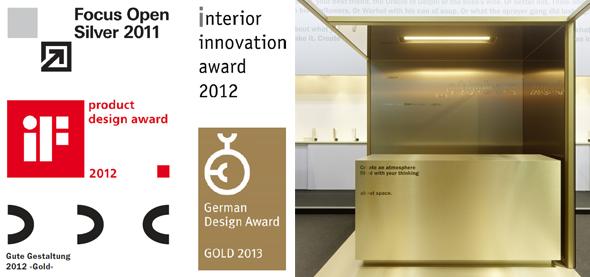 design awards. constructiv ottobox - mobiler Raum auf Rollen. Burkhardt Leitner.