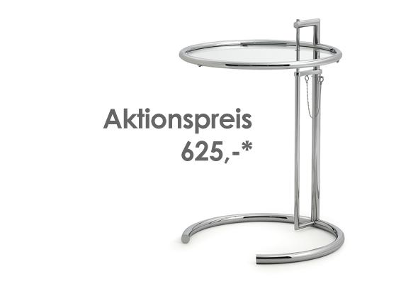 """""""adjustable table E1027"""" von Eileen Gray (*nur solange der Vorrat reicht.)"""