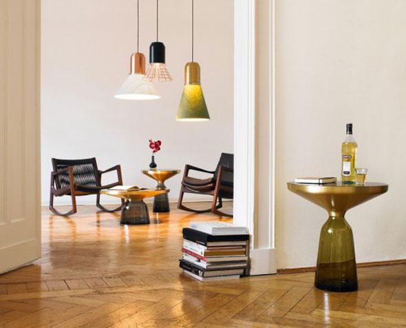 Bell Light und Bell Table von Sebastian Herkner für Classicon