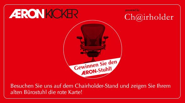 Gewinnen Sie den Aeron auf dem Chairholder Messestand beim VfB Stuttgart