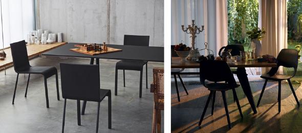 Esszimmer zu tisch mit vitra chairholder for Esszimmer stuhle und tisch