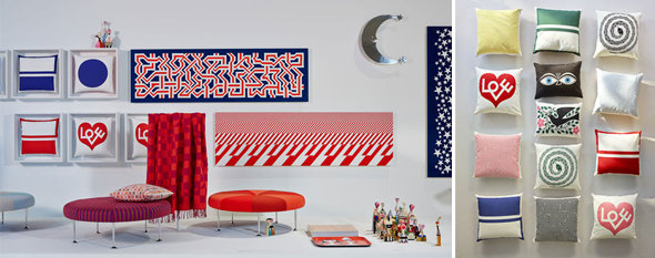Graphic Print Pillows & Environmental Enrichment Panels, Alexander Girard