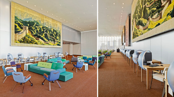 """Delegates' Lounge"" im Hauptquartier der Vereinten Nationen in New York"