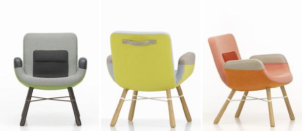 """Hella Jongerius entwickelt für Vitra den UN Lounge Chair weiter – jetzt hat er keine Rollen mehr und heißt """"East River Chair""""."""