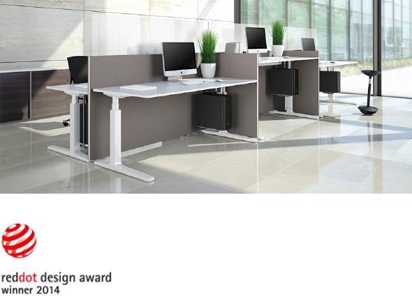 Ausgezeichnet fertig lieferbar der sitz steh tisch for Designer arbeitstisch
