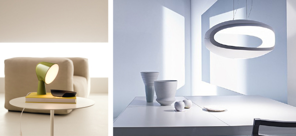 Binic (links), O-Space (rechts), FOSCARINI