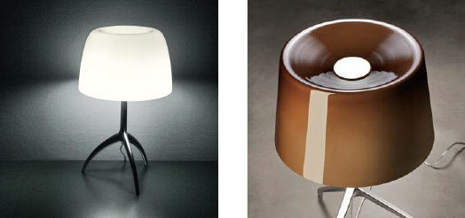 Lumiere xxs Table von Foscarini.