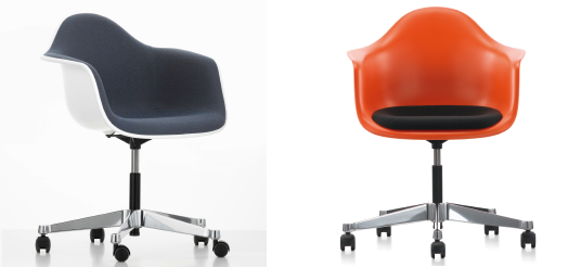 Eames Plastic Armchair PACC von Vitra. Charles & Ray Eames, 1950.
