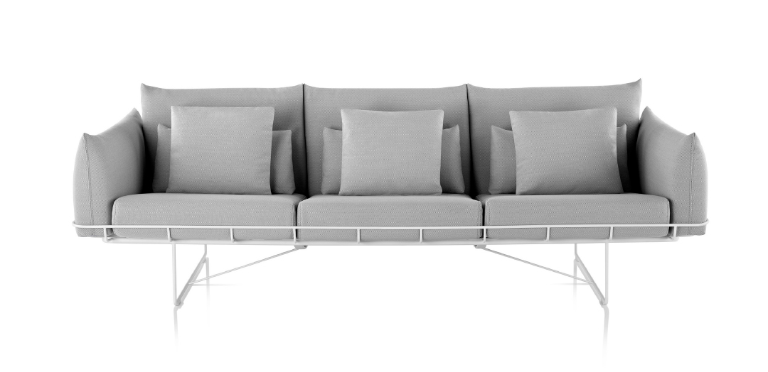 Wireframe Three-Seat Sofa von Herman Miller.
