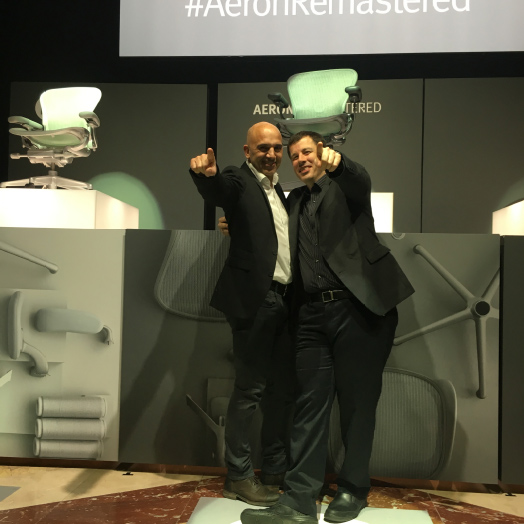 Aeron Launch Event – Chairholder war dabei.