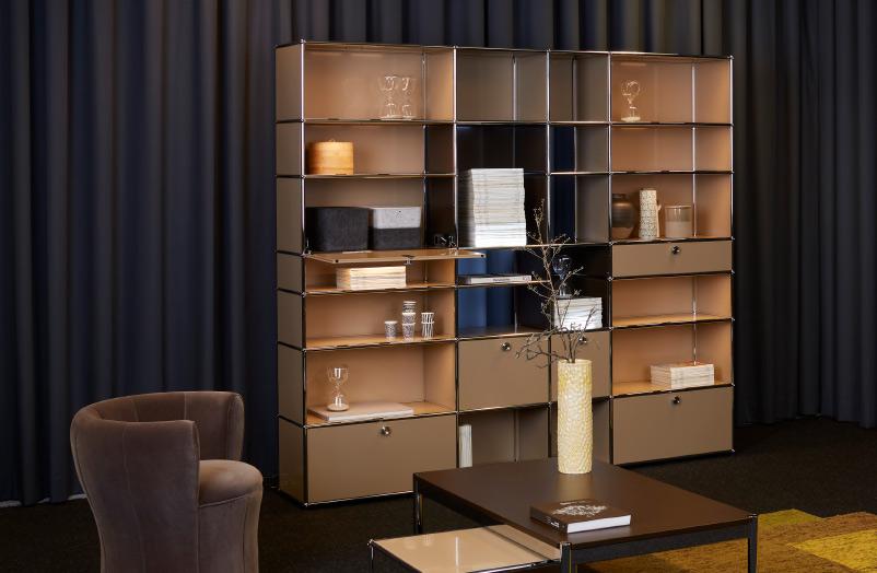 der klassiker in neuem licht usm haller e. Black Bedroom Furniture Sets. Home Design Ideas