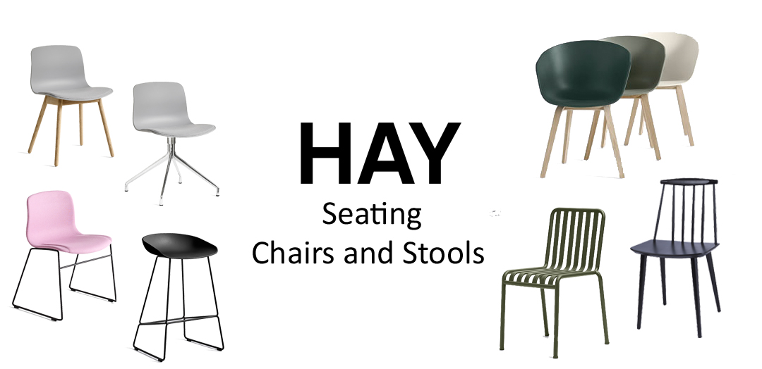 HAY Seating. Chairs and Stools.