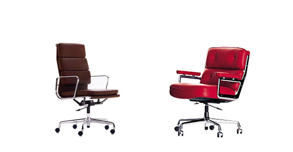 links Softpad Chair, rechts Lobby Chair von vitra