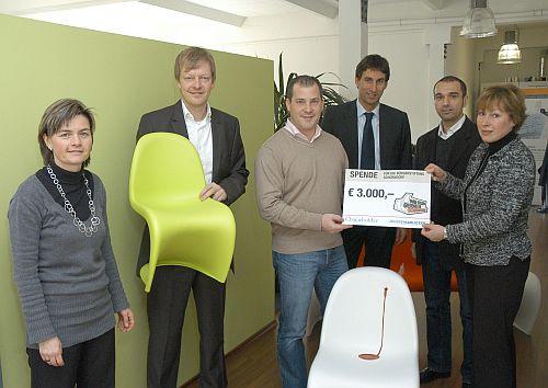 von links: Heidrun Haag, Thomas Joussen, Rolf Gerlach, OB Matthias Klopfer, Peter Karliczek, und Christel Riedel (Bürgerstiftung)
