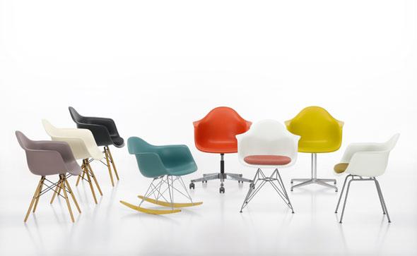 Eames Plastic Arm Chair, DAR, DAW, DAX und DAL