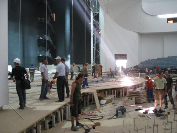 Baustellenimpressionen: Die Bühne