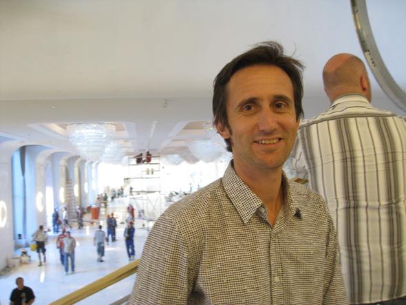 Gunter Fleitz (Architekt) auf der Baustelle