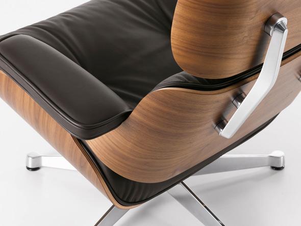 Lounge Chair + Ottomane aus amerikanischem Nußbaum