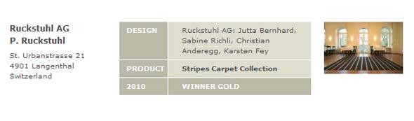 Designpreis GOLD 2010 der Bundesrepublik Deutschland