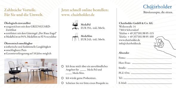 Chairholder MedaPal Aktion vom 01.01.2010 - 31.01.2010