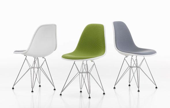 Der Eames Plastic Side Chair Von Vitra, Jetzt In Vollpolster Erhältlich
