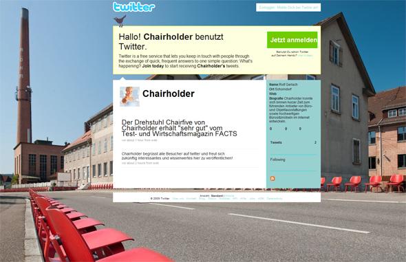 Chairholder auf twitter