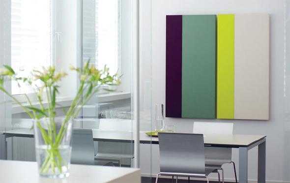 Paneele DUO 2 60 x120 | Farben: 376 dark aubergine, 856 silver green, 936 lime green, 106 wool white