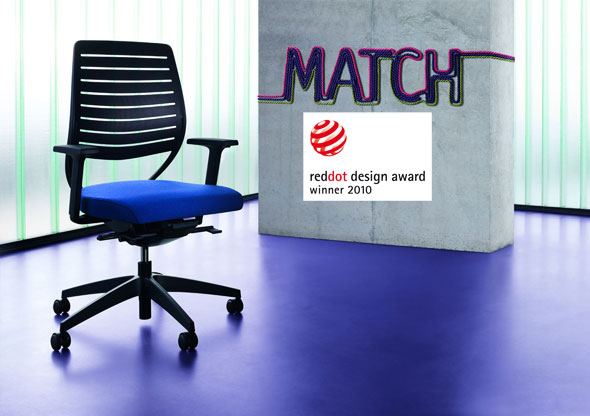 Sedus match mit dem red dot award: product design 2010 ausgezeichnet