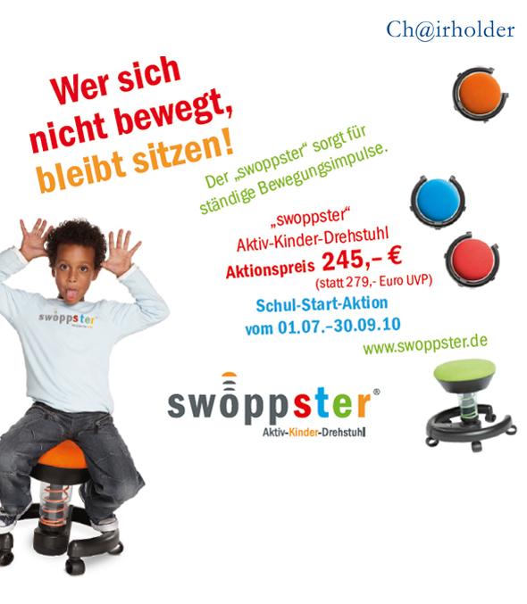 """""""swoppster"""" von aeris - Wer sich nicht bewegt, bleibt sitzen! Schul-Start-Aktion vom 01.07. – 30.09.10"""