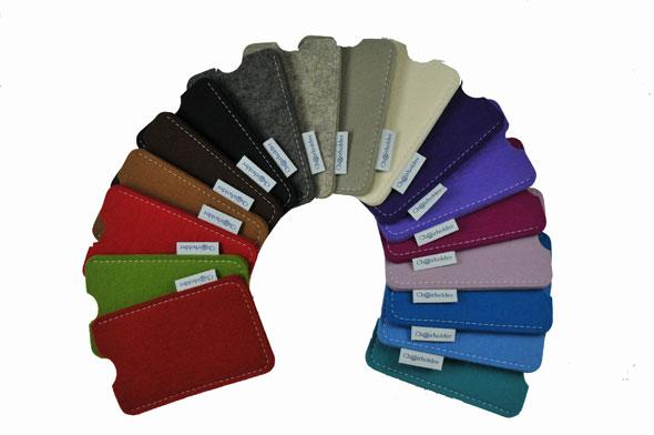 Die Chairholder iPhone-Taschen sind in vielen attrativen Farben erhältlich