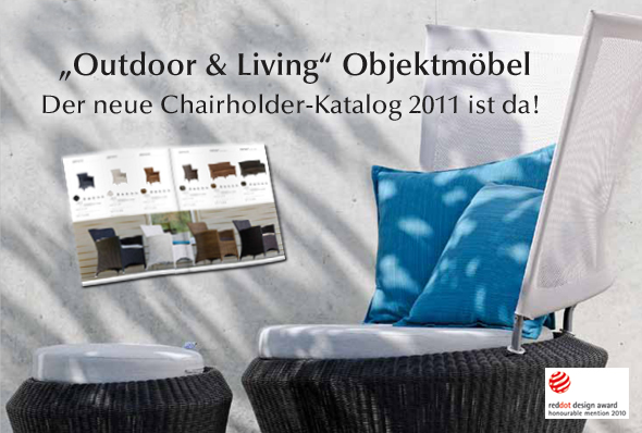 "Chairholder Objektmöbel-Katalog 2011 ""Outdoor & living"""