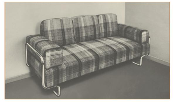Sofa aus dem L&C Arnold Stendal Möbelkatalog, ca. 1928