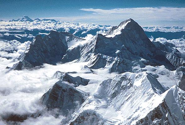 Der Gipfel des Mount Everest