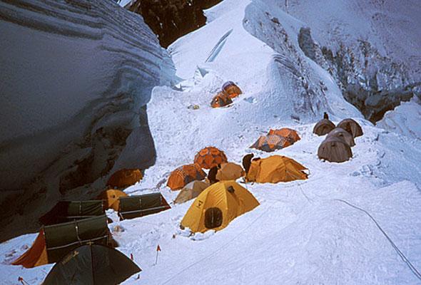 Etappenziel auf dem Mount Everest
