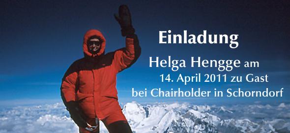 Helga Hengge auf dem Mount Everest