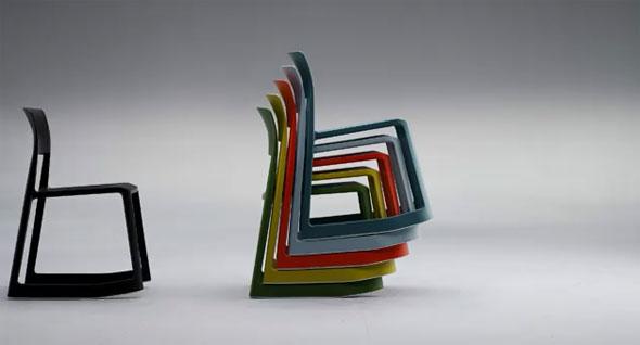 Tip Ton - der neuartige Vollkunststoff-Stuhl von vitra
