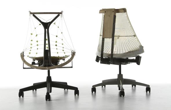 Prototypen des Sayl von Herman Miller
