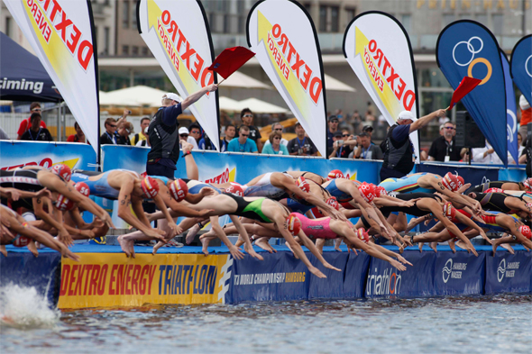 Dextro Energy Triathlon ITU World Championship in Hamburg