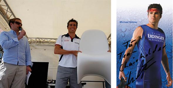 Michael Göhner gewinnt den Hauptpreis, einen Panton Chair von Chairholder gesponsert