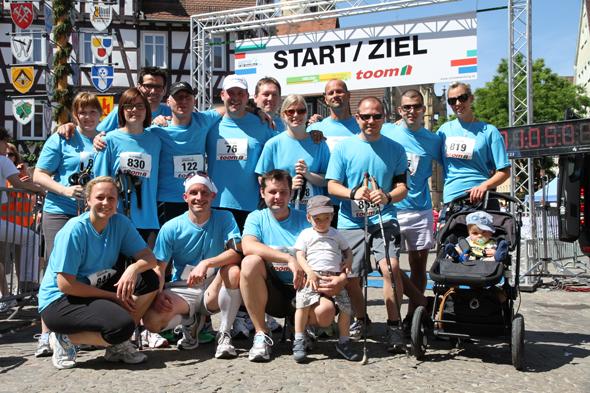 Team Chairholder vor dem Start beim Altstadtlauf in Schorndorf