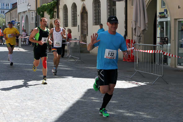 Rainer Kettner beim Zieleinlauf