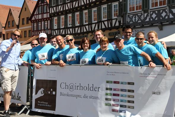 Team Chairholder beim Altstadtlauf in Schorndorf