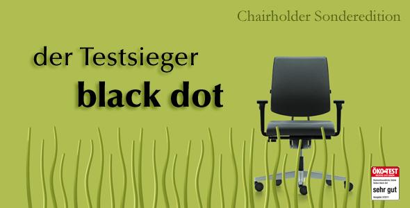 """Der Sedus """"black dot"""" überzeugt beim Öko Test."""