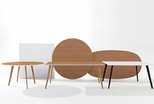 Die neue Tischserie Gher von arper